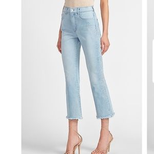 NWT Express cropped flare high rise jeans size 6